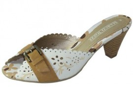 Celia White Combination Mule Sandal
