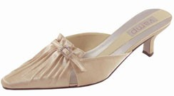 Chantal Champagne Satin Mule