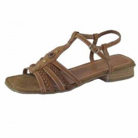Cleo Chocolate Brown Flat Sandals