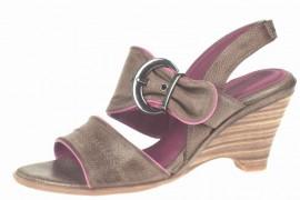 Delilah Brown & Pink Wedge Heeled Sandals