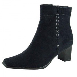 Di Black Suede Ankle Boots