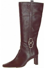 Dilys Black Leather Ladies Boots