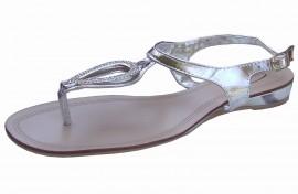 Donna Silver & Diamante Gladiator Sandal