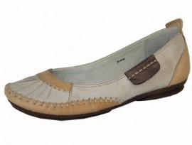 Eden Natural Leather Flat Shoes
