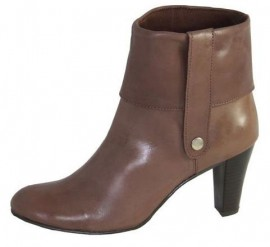 Eleanor Brown Leather Ankle Boots