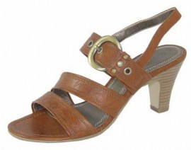 Elise Nut Brown Heeled Sandals