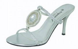 Embeso Silver Evening Sandals