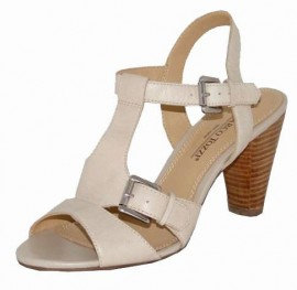 Emeline Cream Leather Ladies Sandals