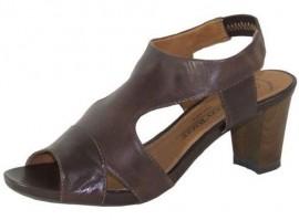 Erin Mocca Leather Heeled Sandal