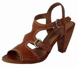 Estella Nut Brown Heeled Sandals