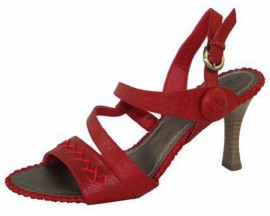 Evie Chilli Red Heeled Sandals