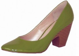 Green Patent Heeled Ladies Shoes