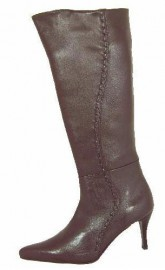 Heather Brown Leather Knee High Boots