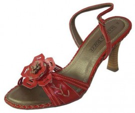 Iris Red Ladies Sandals