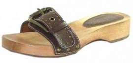 Jocelyn Cafe Brown Mule Sandals