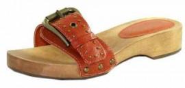 Jocelyn Orange Mule Sandals