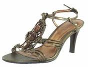 Joni Gold Metallic Evening Sandals