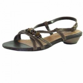 Josie Brown Leather Flat Sandals