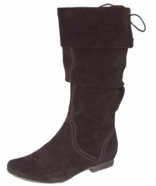 Kate Leather Suede Knee High Ladies Boots