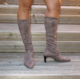 Ladies Stretch Boots in Taupe