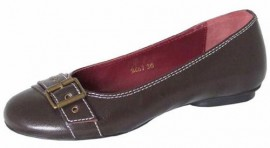 Lira Brown Leather Ladies Shoes