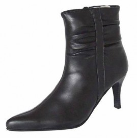 Maffia Black Leather Ankle Boots
