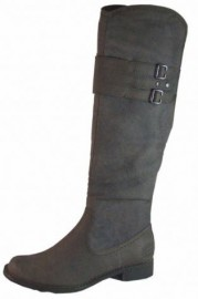Pia Flat Brown Knee High Ladies Boots