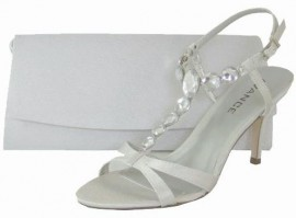 Menbur Avance Diamante Pearl Grey Evening Sandals