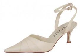 Menbur Ivory Satin Ladies Shoes with Diamante