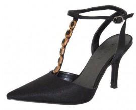 Menbur T-bar Black Ladies Shoes