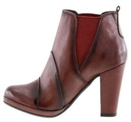 Natasha Brown Leather Ankle Boots
