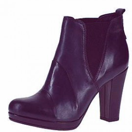 Natasha Navy Leather Ankle Boots