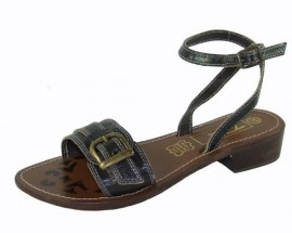 Neptune Brown Leather Flat Sandals