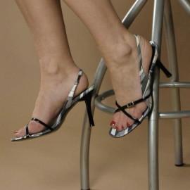 Plaza Black Heeled Sandals