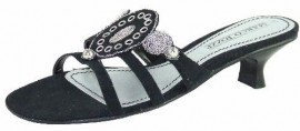 Sadie Black & Silver Evening Mule