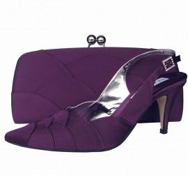 Selina Aubergine Clutch Bag