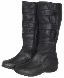 Yvonne Wide Calf Black Knee High Boots