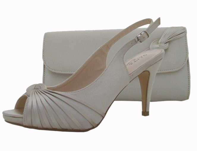 Champagne Wedding Shoes and Matching Bag