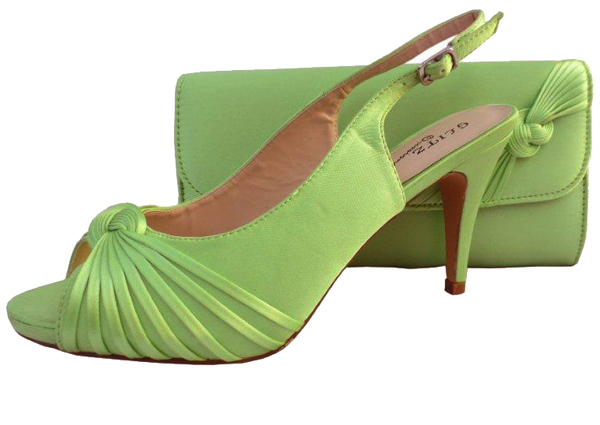 Annabel Lime Green Evening Shoes