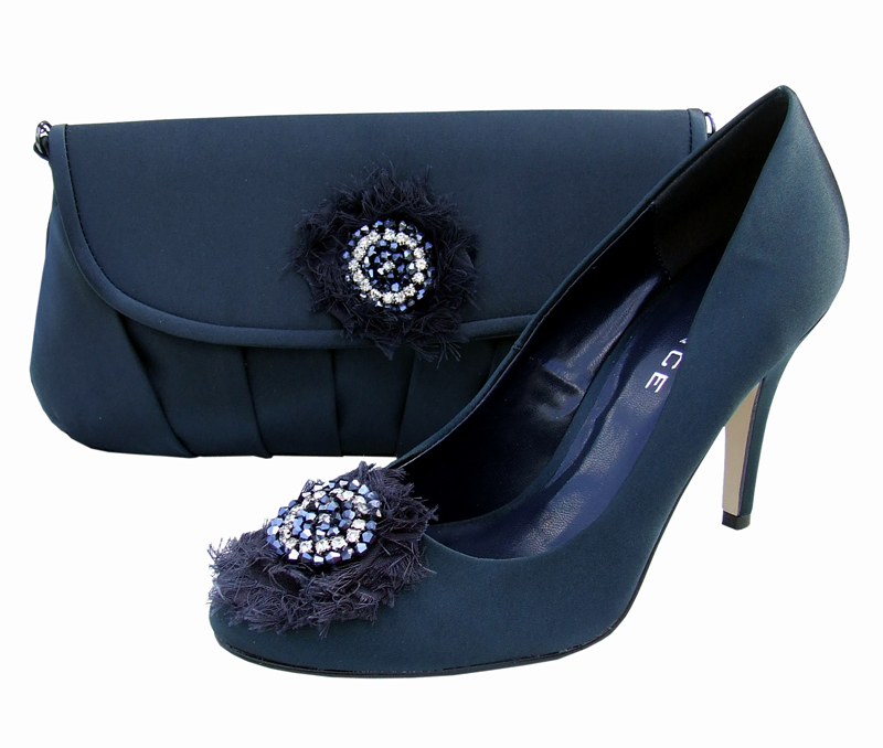 Menbur Navy Evening Shoes Sole Divas