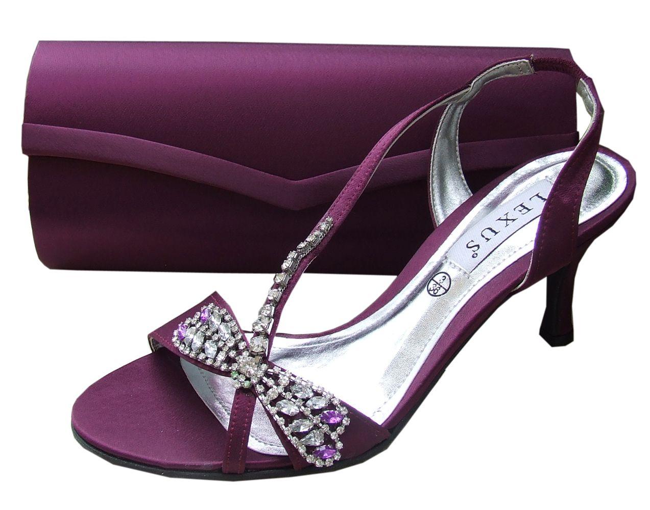 Lexus Caprice Purple Plum Evening Sandals