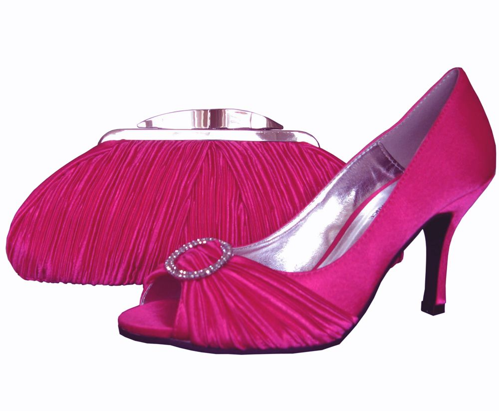 Lunar Fuchsia Pink Evening Shoes