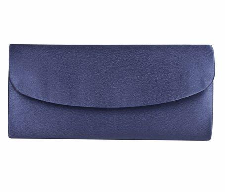 Navy Blue Satin Evening Bag