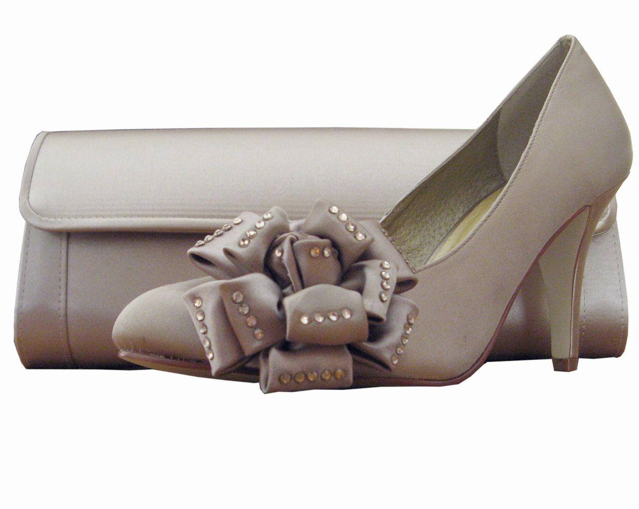 Stone Satin Ladies Shoes By Menbur Evening Shoes