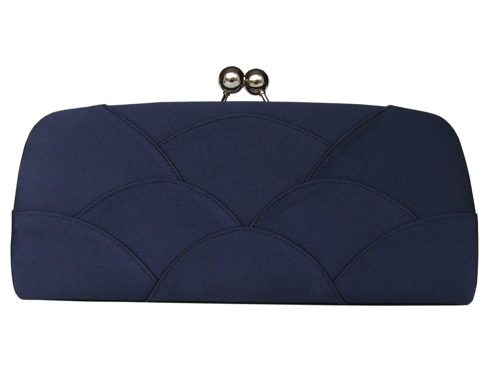 Navy Satin Clutch Bag Navy Evening Bags Navy Matching Shoes And Bags