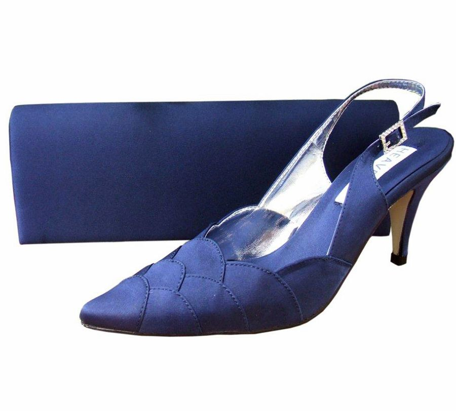 Navy Ladies Evening Shoes Reduced 45
