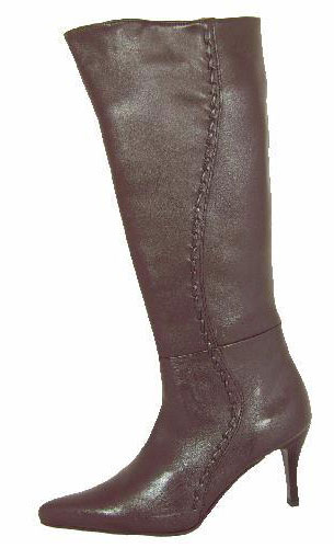 Brown Leather Knee High Boots Sole Divas