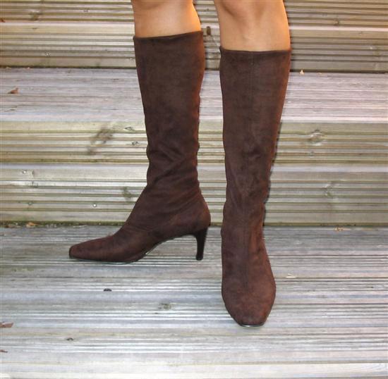 Ladies Stretch Boots In Brown   Sole Divas